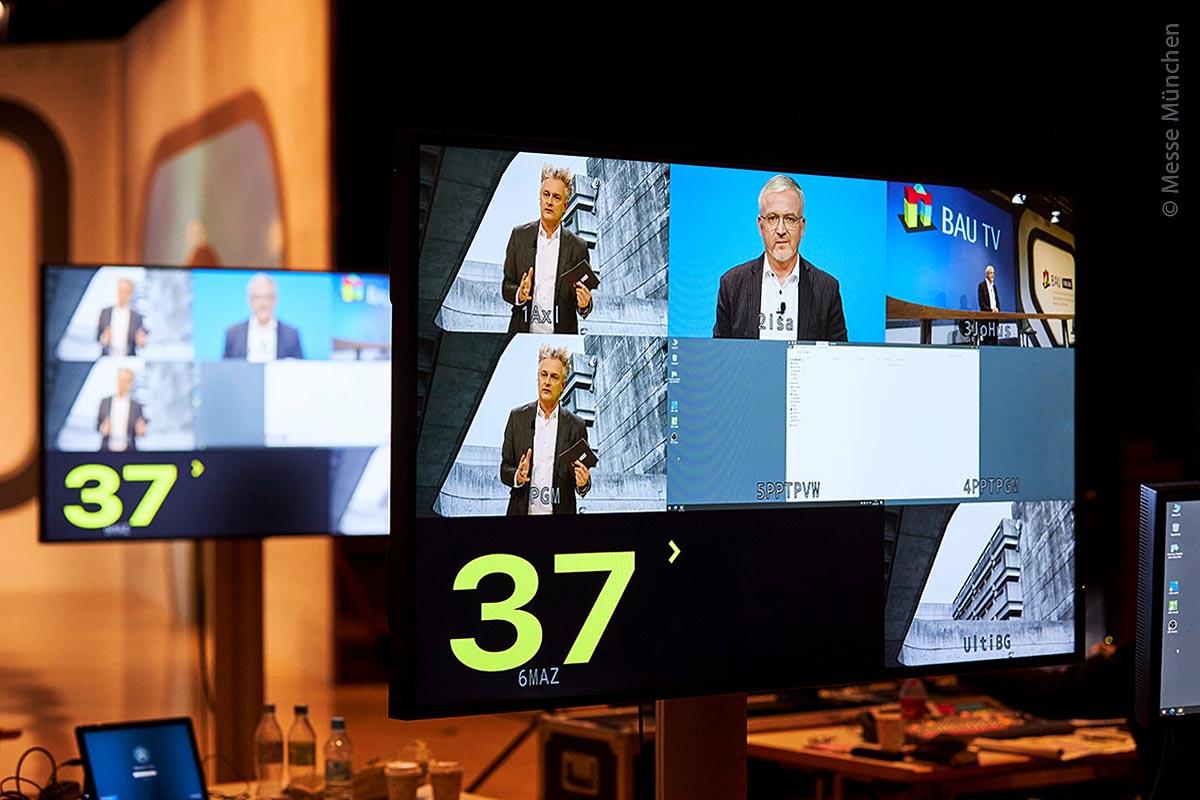 Auf der BAU Online wurden praktisch alle Interviews per Video durchgeführt.