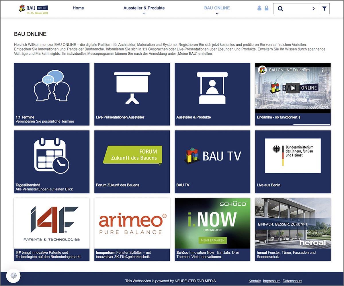 Die Anmeldemaske der Website BAU Online war übersichtlich und logisch aufgebaut.