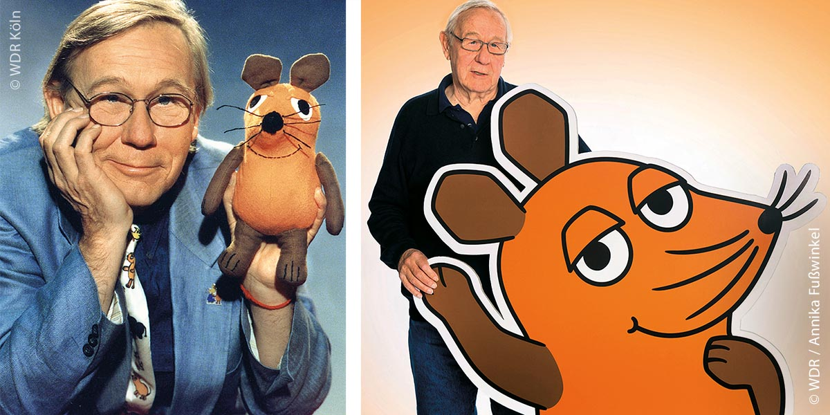 """Armin Maiwald, der Erfinder der """"Sendung mit der Maus"""" war das erste Gesicht der Sendung. Im Januar 2020 feierte er seinen 80. Geburtstag und ist nicht weniger neugierig auf neues Wissen."""