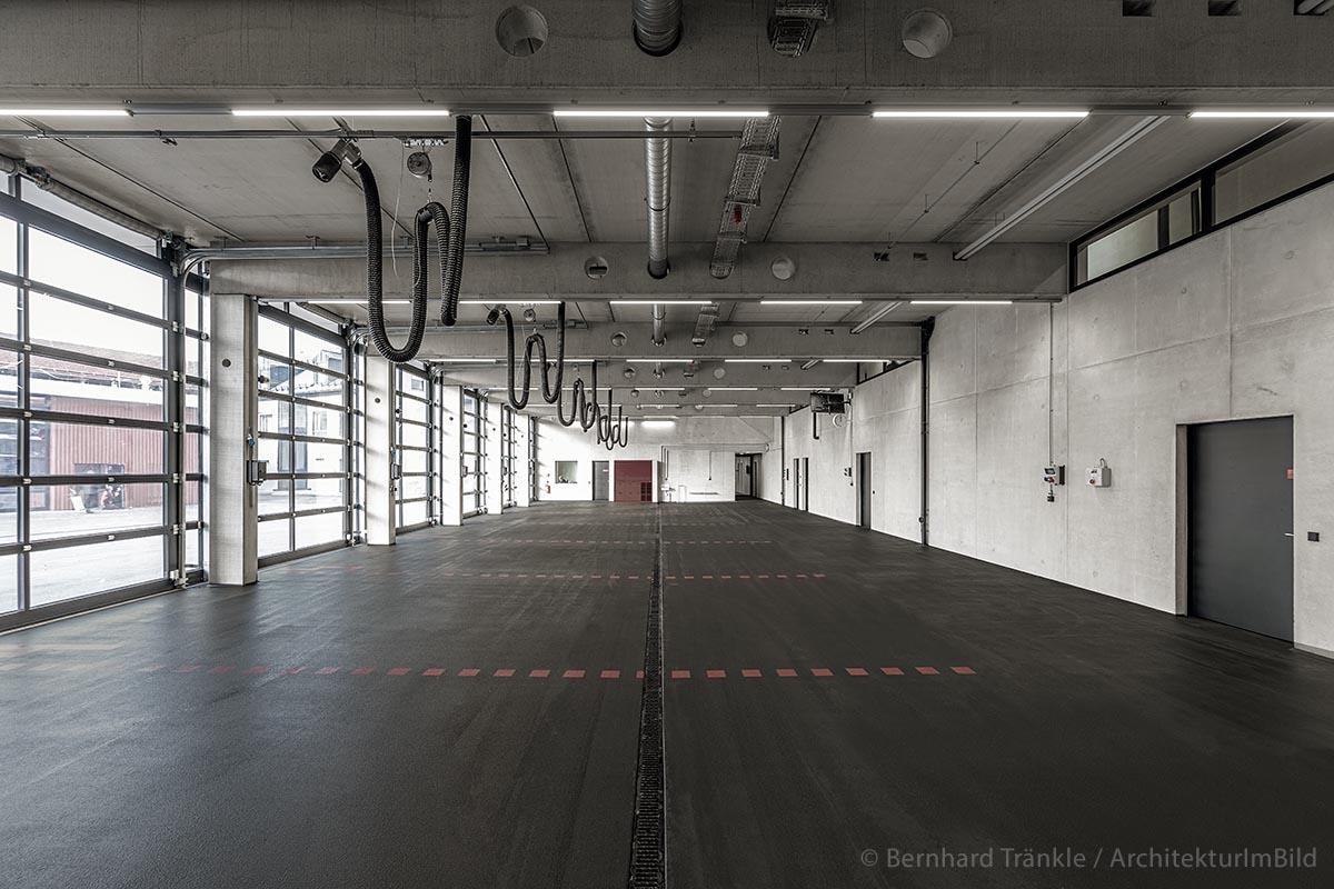 Die neue Fahrzeughalle der Feuerwehr Kaufbeuren
