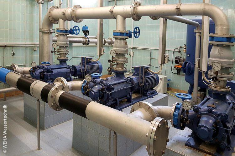 Wasserwerk (Pumpstation) im bayerischen Nersingen