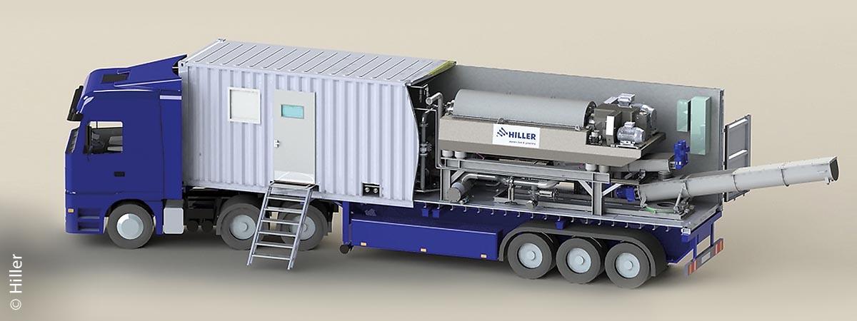 Hiller entwickelt seit mehr als 50 Jahren Dekantierzentrifugen und Komplettanlagen zur Fest-Flüssigtrennung in ihren hochmodernen Fertigungsanlagen im niederbayerischen Vilsbiburg.