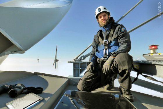 Wartung einer Windkraftanlage