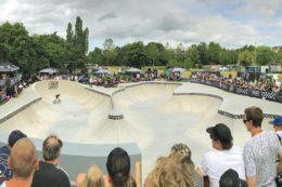 Der Skatepool, als Hauptelement des Skateparks in Waiblingen, ist für die Nutzung durch erfahrene Skater und BMXer gedacht und beansprucht den Großteil der Gesamtfläche.