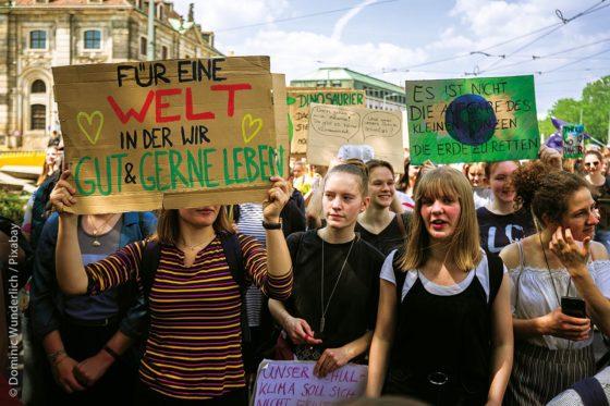 In vielen Städten und Kommunen setzen sich immer mehr junge Menschen für den Klimaschutz ein.