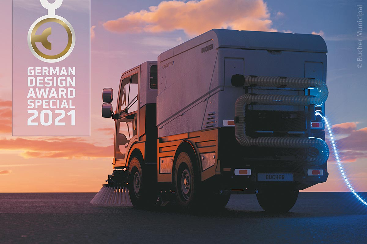 """CityCat V20e und CityCat VS20e haben die Auszeichnung """"Special Mention"""" beim German Design Award 2021 gewonnen: Gutes Design trifft auf Effizienz und Wirtschaftlichkeit."""