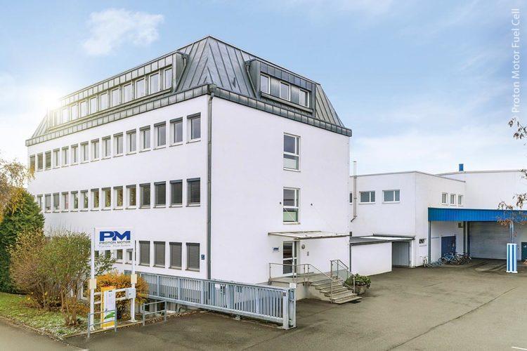 Der Produktionsstandort des Wasserstoff-Brennstoffzellen-Spezialisten Proton Motor im bayerischen Puchheim nahe bei München