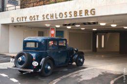 """Einfahrtsbereich vom """"Schlossberg Parking Thun"""""""