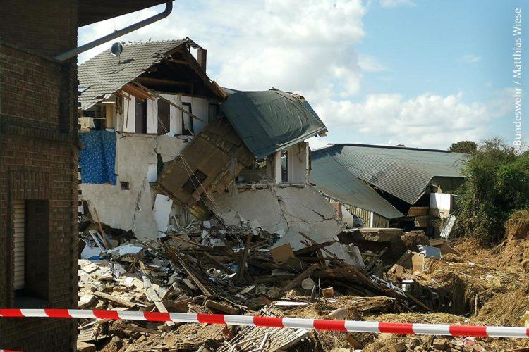 Hochwasserschäden zerstörtes Haus Juli 2021