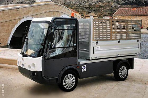 Eco-Minitruck von Esagono für den Transport von Gütern und Waren