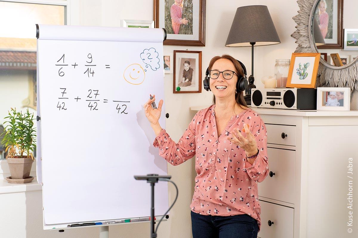 Distanzunterricht per Videokonferenz am Pädagogischen Zentrum Schloss Niedernfels