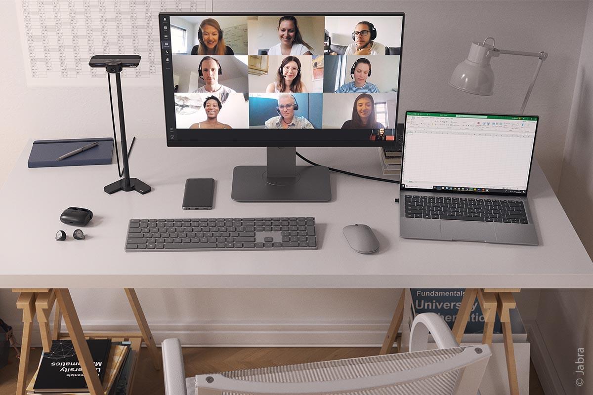 Ob Teambesprechung, Homeschooling oder Hybridunterricht, mit dem Videoequipment hat man jeden seiner Gesprächspartner gänzlich im Blick.