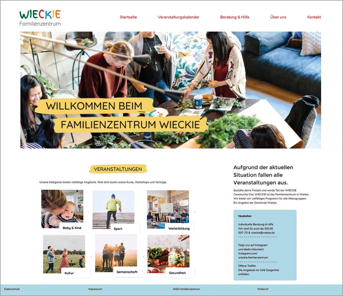 """Die Internetseite des Familienzentrums """"Wieckie"""" in Wietze erfüllt alle Anforderungen der öffentlichen Verwaltung."""