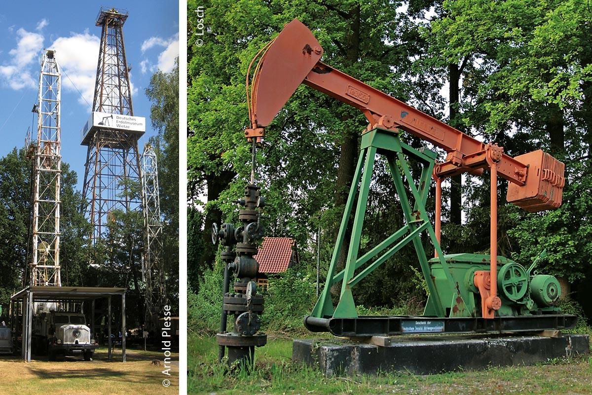 Wietze war schon im 17. Jahrhundert für seine Erdölbohrungen bekannt. Der Bohrturm (links) auf dem Gelände des Erdölmuseums erinnert daran.